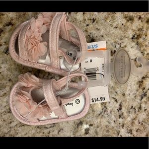 NWT Koala Baby Boutique Pink floral sandals size 0